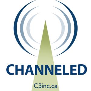 New channeled logo